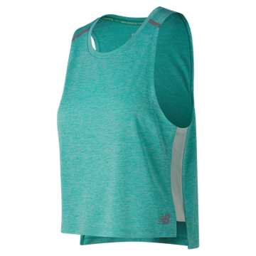 New Balance NB Ice 2.0 Crop Tank, Tidepool