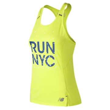 New Balance United Airlines NYC Half Ice 2.0 Tank, Solar Yellow