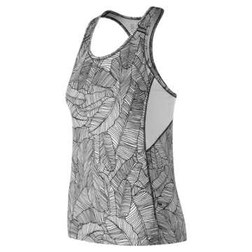 New Balance Printed NB Ice 2.0 Tank, Black with White