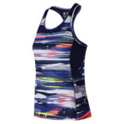 New Balance Printed NB Ice 2.0 Tank, Blue Iris with White & Solar Yellow