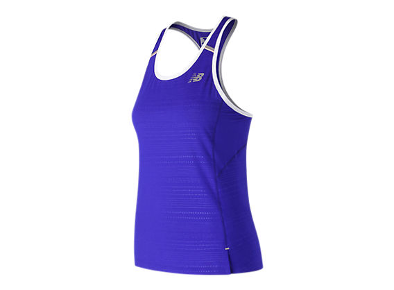 New Balance Women/'s Printed NB Ice 2.0 Tank Blue