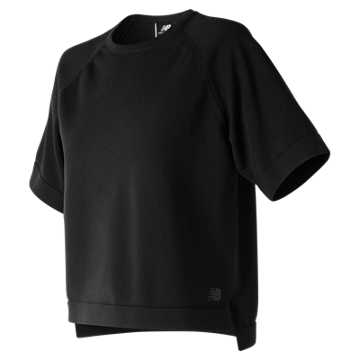 New Balance 247 Luxe Short Sleeve Crew, Black