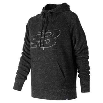 New Balance Heathered Hoodie, Black Heather