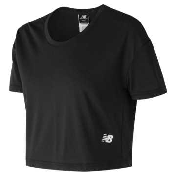 New Balance 247 Sport Cropped Tee, Black