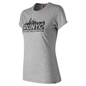 New Balance NYC Marathon NB Logo Tee, Athletic Grey