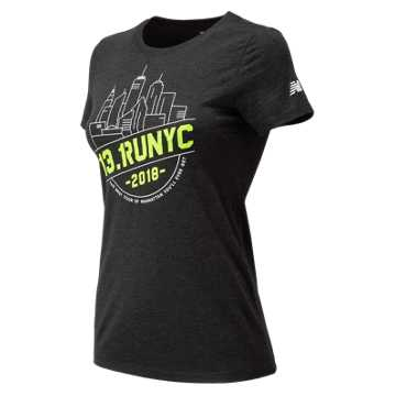 New Balance United Airlines NYC Half NYC Short Sleeve, Black