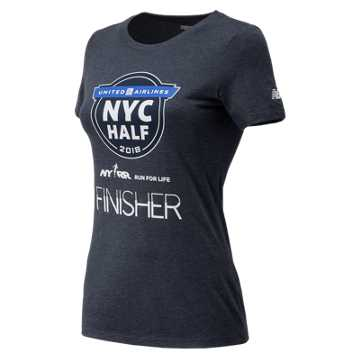 New Balance United Airlines NYC Half Finisher Short Sleeve, Navy