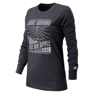 New Balance United Airlines NYC Half Big Apple Long Sleeve, Navy