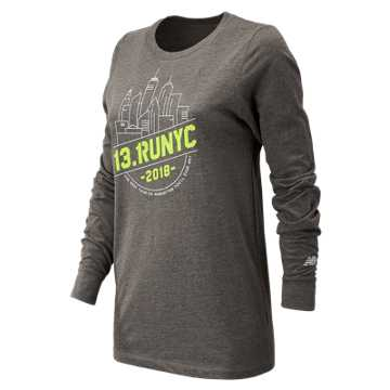 New Balance United Airlines NYC Half NYC Long Sleeve, Grey