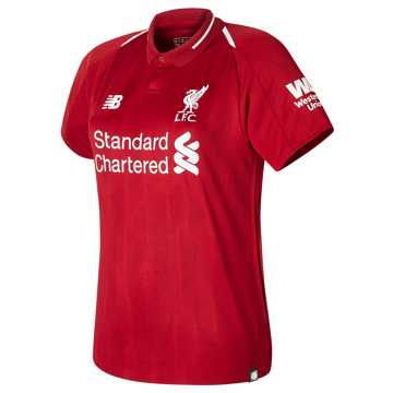 New Balance LFC Home Womens Short Sleeve Jersey, Red Pepper