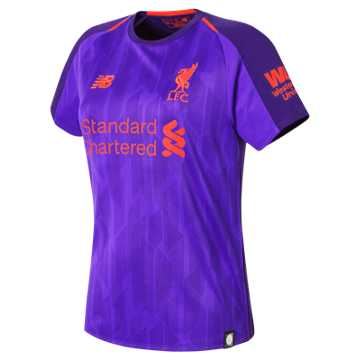 New Balance LFC Away Womens Short Sleeve Jersey, Deep Violet