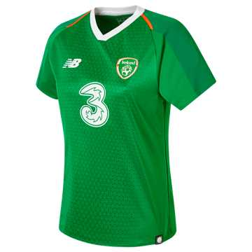 New Balance FA Ireland Womens Home Short Sleeve Jersey, Jolly Green