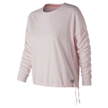 New Balance Heather Tech Long Sleeve, Himalayan Pink Heather