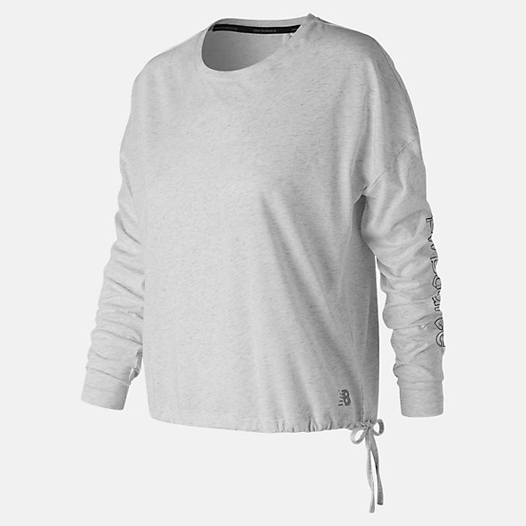 New Balance Heather Tech Long Sleeve, WT83101SAH