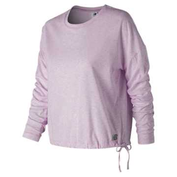 New Balance Heather Tech Long Sleeve, Violet Glo Heather