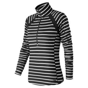 New Balance Novelty Anticipate Half Zip, Black with White