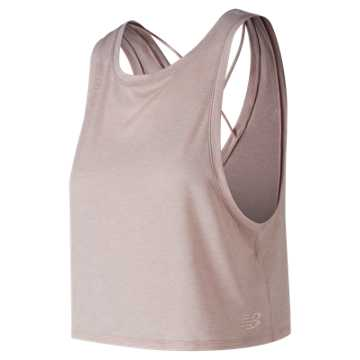 New Balance Transform Two Way Crop Tank, Conch Shell Heather