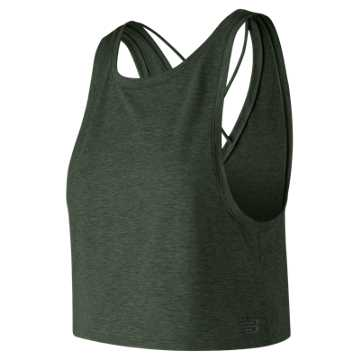 New Balance Transform Two Way Crop Tank, Faded Rosin