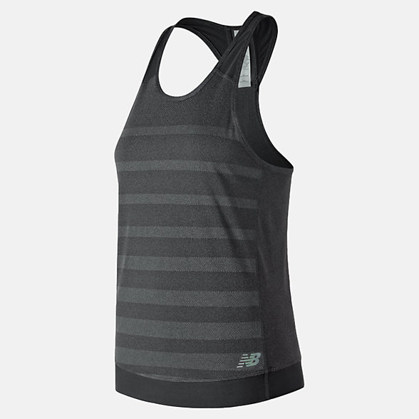 New Balance Q Speed Jacquard Tank, WT83251BK