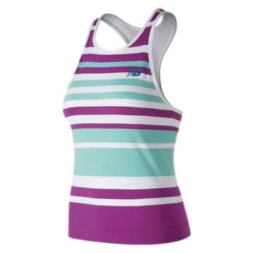 New Balance Tournament Seamless Tank, Purple with Light Blue & White