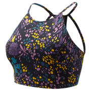 NB Printed Evolve Halter Crop, Black with Supercell & Kite Purple