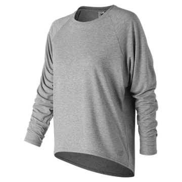 New Balance NB Release Open Back Long Sleeve, Athletic Grey