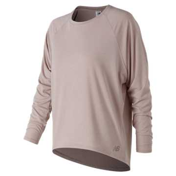 New Balance NB Release Open Back Long Sleeve, Au Lait Heather