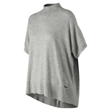 New Balance NB Release Poncho Sweater, Athletic Grey