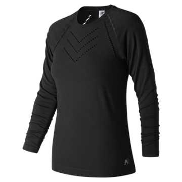 New Balance Studio Seamless Long Sleeve, Black