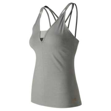 New Balance Evolve Strappy Tank, Athletic Grey
