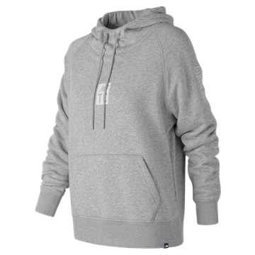 New Balance Essentials NB Track Club Pullover Hoodie, Athletic Grey