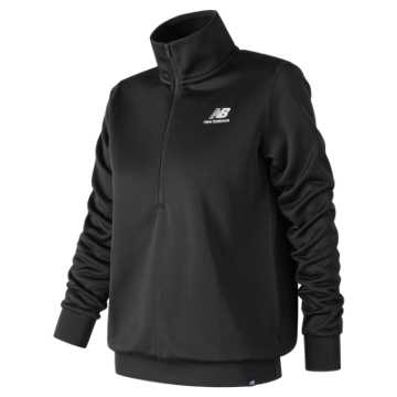 New Balance Essentials Half Zip Pullover, Black