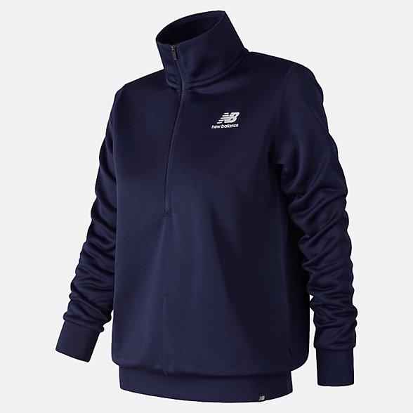 New Balance Essentials Half Zip Pullover, WT83526PGM