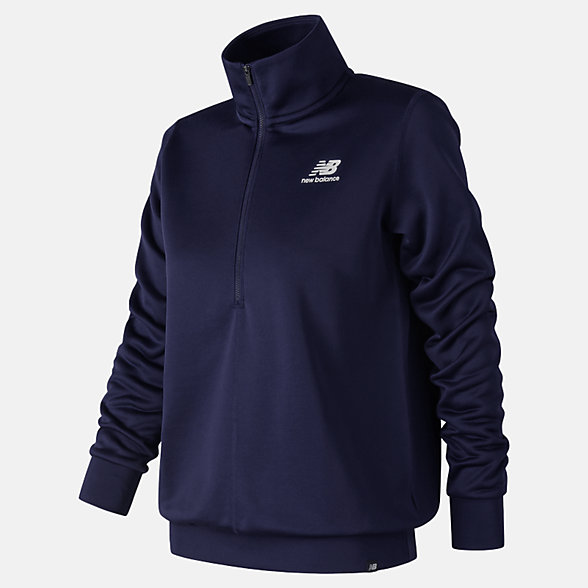 New Balance Essentials Half Zip Pullover, WT83526PGM
