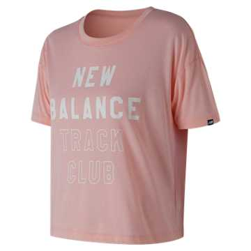 New Balance Essentials Track Club Tee, Himalayan Pink