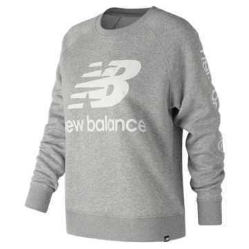New Balance Essentials NB Logo Crew, Athletic Grey
