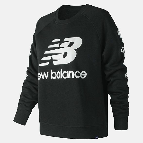 New Balance Essentials NB Logo Crew, WT83560BK