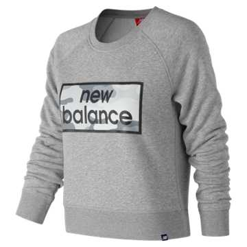 New Balance Essentials Linear Crew, Athletic Grey