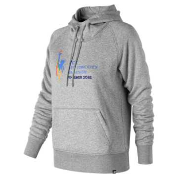 New Balance NYC Marathon Essentials Finisher Hoodie, Athletic Grey