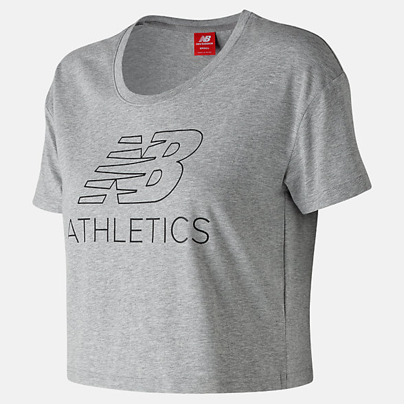 New Balance NB Athletics Cropped Tee, WT83594AG