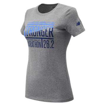 New Balance NYC Marathon Training Tee, Athletic Grey