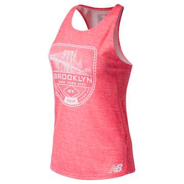 New Balance Brooklyn Half Singlet, Guava