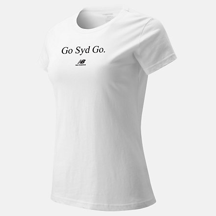New Balance Go SYD Go Tee, WT90333WT image number null