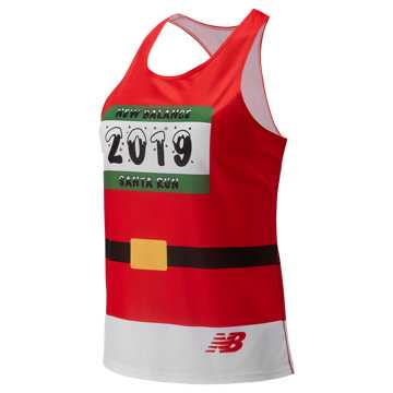 New Balance Santa Suit Singlet, Team Red