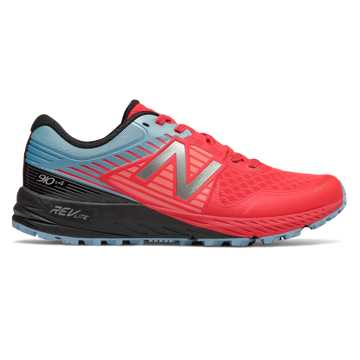 New Balance 910v4 Trail, Vivid Coral with Clear Sky & Black