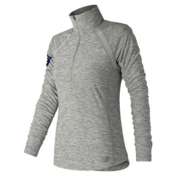 New Balance United Airlines Half Anticipate Half Zip, Athletic Grey
