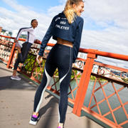 New Balance Energize Crop Hoodie, Galaxy Heather