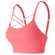 New Balance Feel The Cool Crop Bra, Bleached Guava