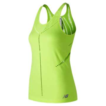 New Balance Stretch Mesh Tank, Bleached Lime Glo