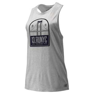 New Balance NYC Half Relentless Tank, Athletic Grey